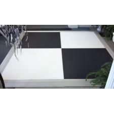 4x4 Black and White Dance Floor Panels