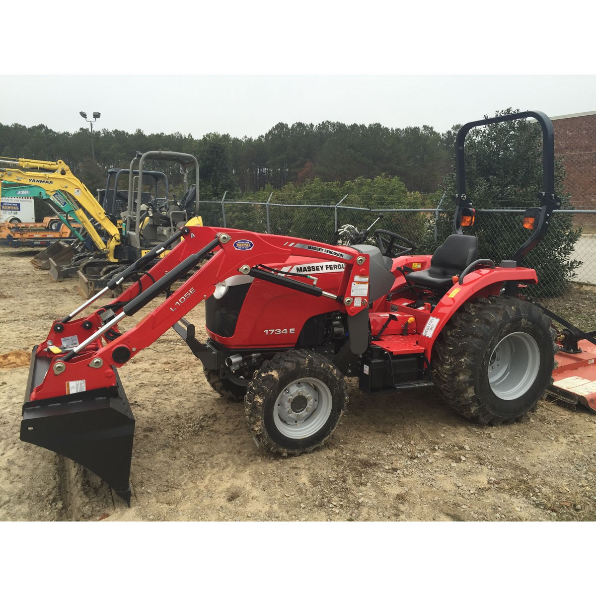 Small Tractors With Loaders : Massey ferguson e compact tractor with loader