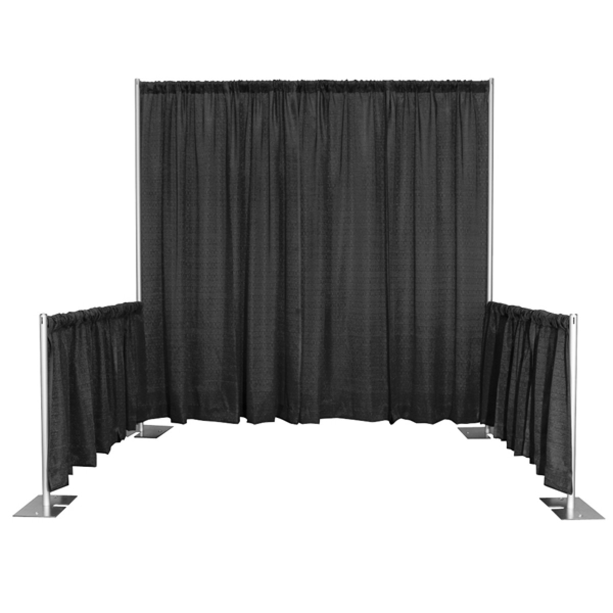 hawaii galleria tents black stage and pipe drape events with drapes production